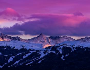 Copper Mountain at Sunset