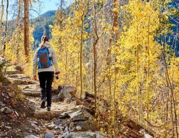 fall hiking in colorado