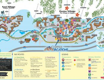 Copper Mountain Village Map