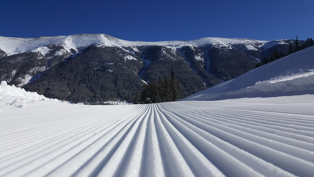 winter in copper mountain, groomers at copper mountain