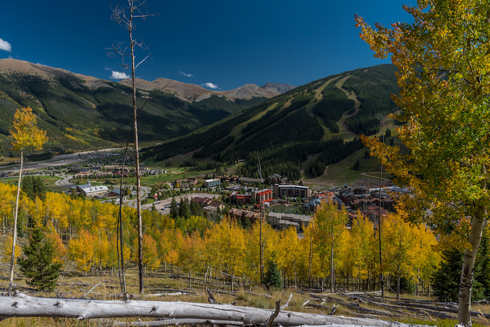 copper mountain in the fall