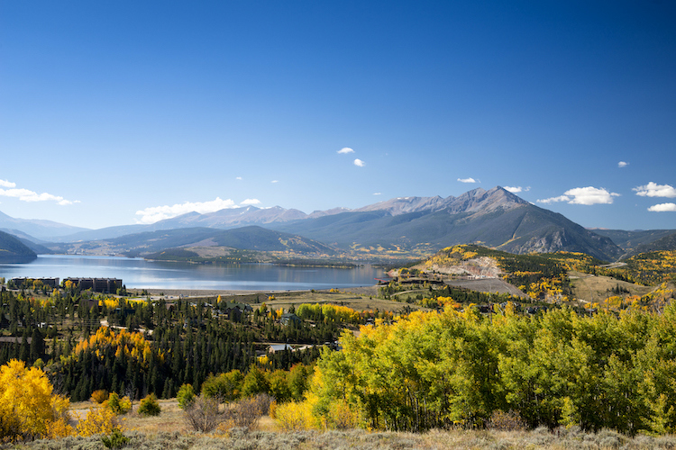 lake dillon fall, summit county fall
